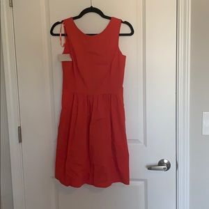 Red/Coral Open Back Dress